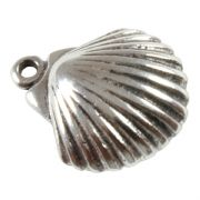 Scallop Shell 3D Sterling Silver Charm